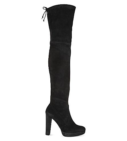 STUART WEITZMAN Alllegs suede thigh boots (Black