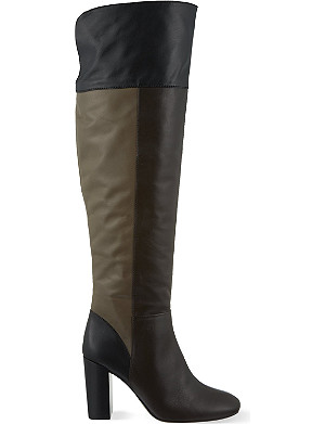 TORY BURCH Bowie block colour knee boots