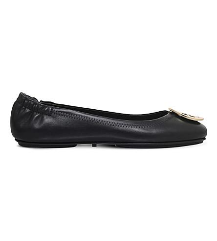 TORY BURCH 米妮旅行皮革芭蕾舞平底鞋 (其他