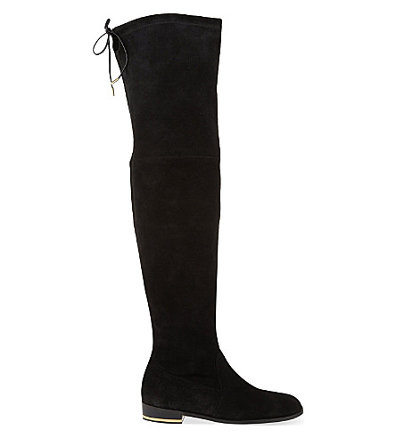KURT GEIGER LONDON Regent suede thigh boots (Black