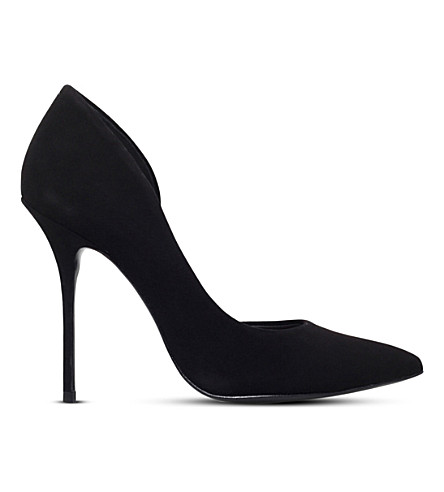 KURT GEIGER LONDON Anja suede courts (Black