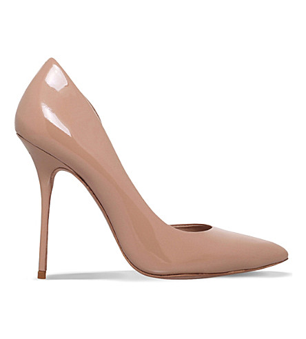 KURT GEIGER LONDON Anja patent-leather courts (Nude