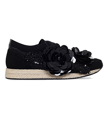 KURT GEIGER LONDON Langham suede trainers (Black