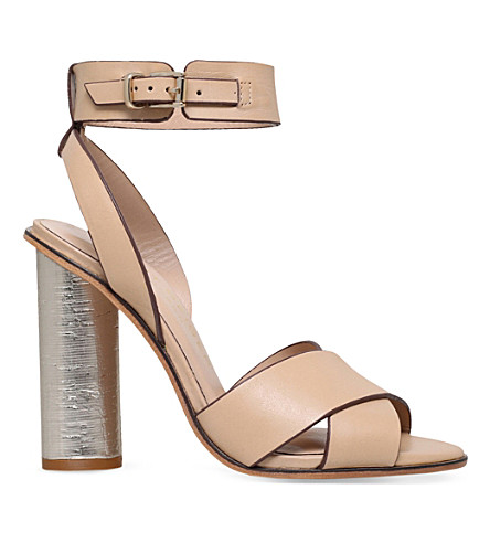 KURT GEIGER LONDON Talbot leather sandals (Nude