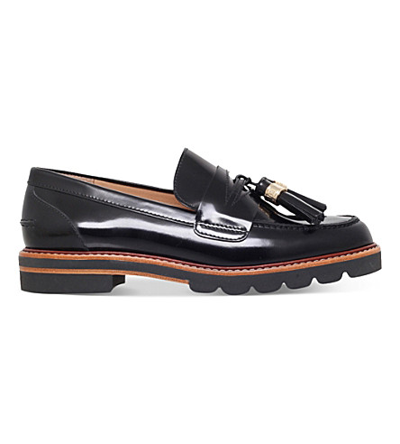 STUART WEITZMAN Manila leather loafers (Black