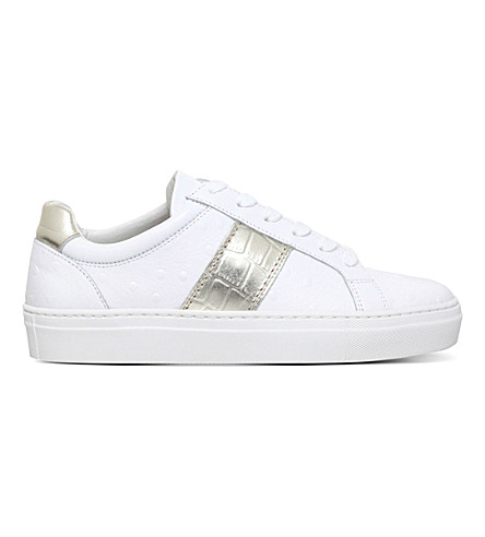 KURT GEIGER LONDON Lambeth leather low-top trainers (White