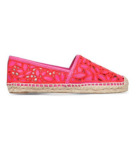 TORY BURCH Rhea cut-out espadrilles (Fushia+cmb