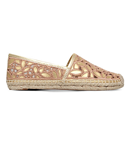 TORY BURCH Rhea cut-out espadrilles (Gold+comb