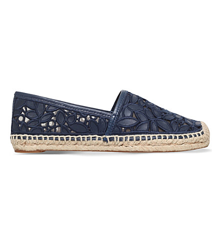 TORY BURCH Rhea cut-out espadrilles (Blue/drk.c