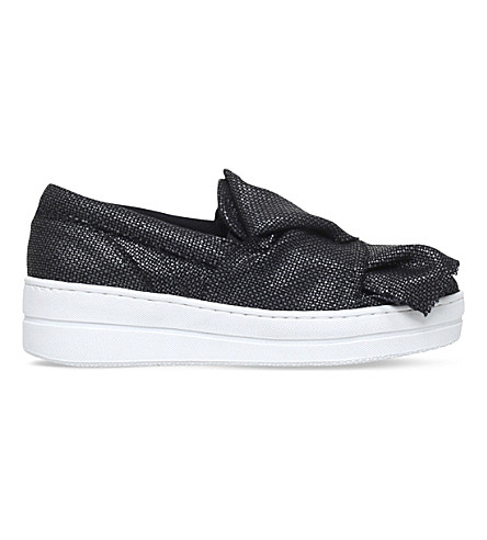 KURT GEIGER LONDON Laira flatform trainers (Black