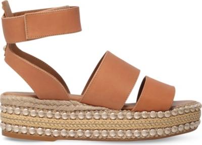 Kurt geiger london palma leather flatform sandals - Kidshome palma ...