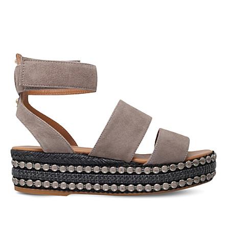 KURT GEIGER LONDON Palma suede flatform sandals (Taupe