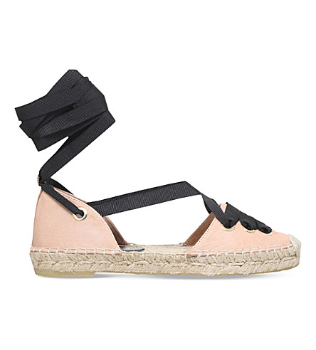 KURT GEIGER LONDON Pine leather espadrilles (Nude