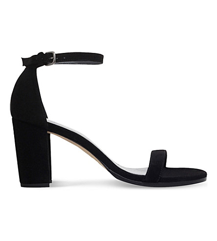 STUART WEITZMAN NearlyNude suede heeled sandals (Black