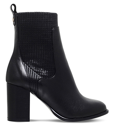 KURT GEIGER LONDON Nettle Leather Ankle Boots (Black