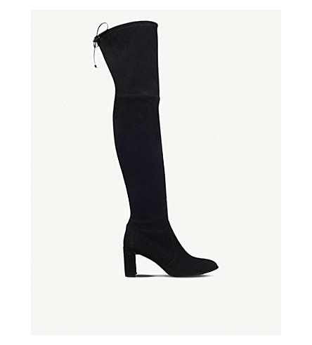STUART WEITZMAN Tieland suede over-the-knee boots (Black