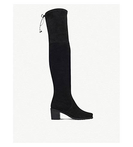 STUART WEITZMAN Urban suede over-the-knee boots (Black