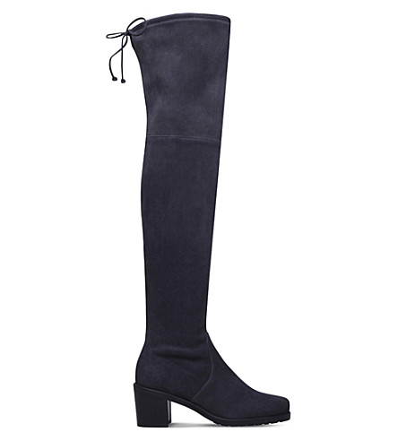 STUART WEITZMAN Urban suede over-the-knee boots (Grey+mid