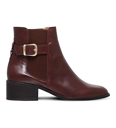 KURT GEIGER LONDON 风暴皮革切尔西靴 (棕色