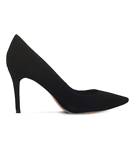 KURT GEIGER LONDON Eden suede courts (Black