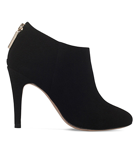 KURT GEIGER LONDON Dahla zipped suede boots (Black