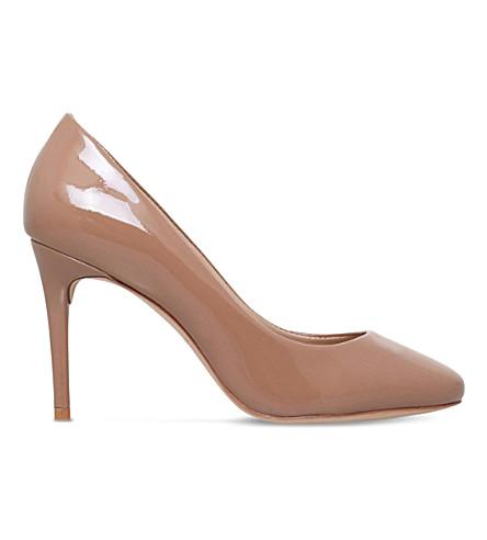 KURT GEIGER LONDON Ellie suede court shoes (Nude
