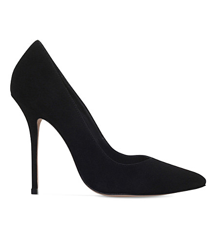 KURT GEIGER LONDON Ellen suede courts (Black