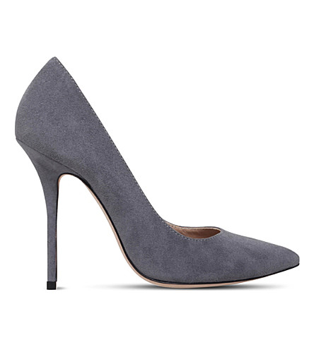 KURT GEIGER LONDON Ellen suede court shoes (Grey