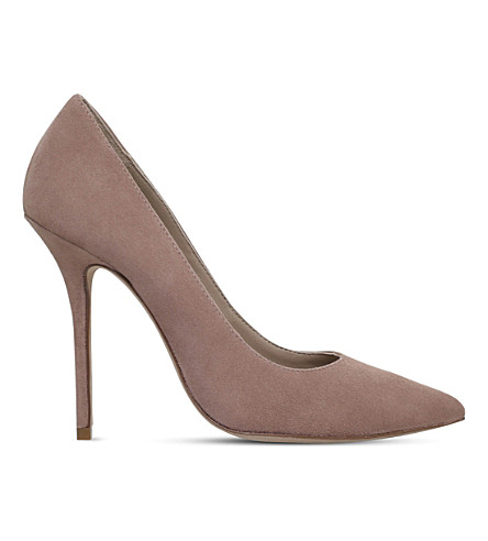 KURT GEIGER LONDON Ellen suede court shoes (Taupe