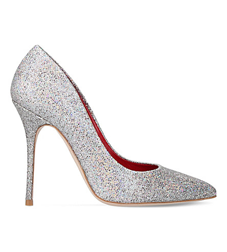 KURT GEIGER LONDON Ellen glitter court shoes (Silver