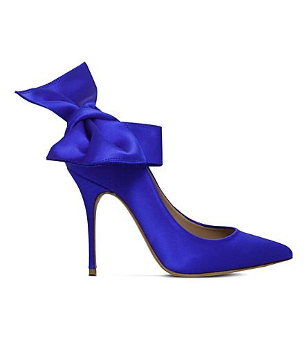 KURT GEIGER LONDON Evie bow court shoes (Blue
