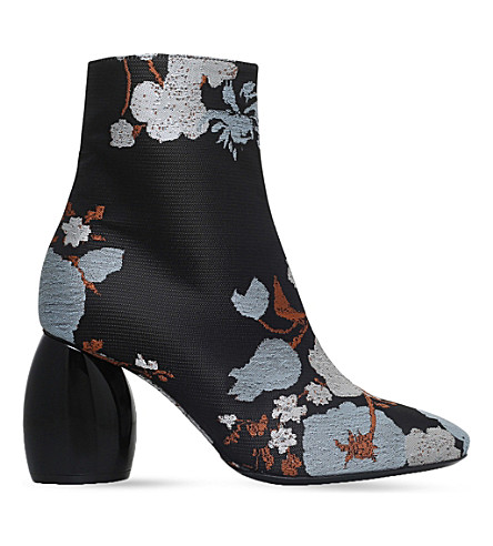 DRIES VAN NOTEN Jacquard ankle boots (Pale+blue