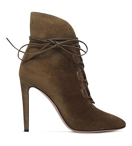 GIANVITO ROSSI Empire suede ankle boots (Khaki