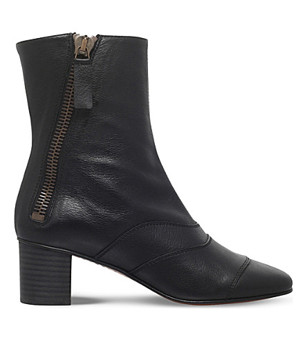 CHLOE Lexie leather ankle boots (Black