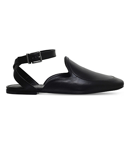 JIL SANDER Pala leather flats (Black