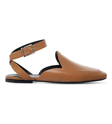 JIL SANDER Pala leather flats (Tan