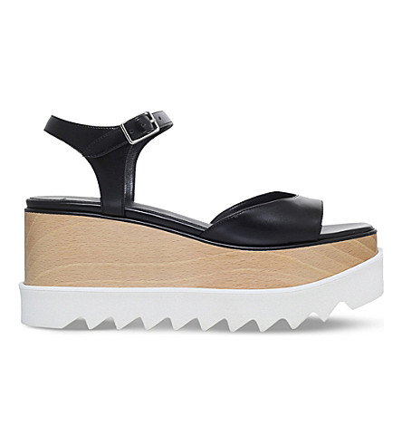 STELLA MCCARTNEY Elyse flatform sandals (Black