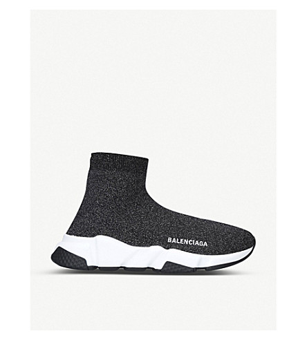 BALENCIAGA Speed stretch-knit trainers (Black/comb