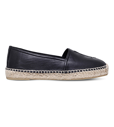 SAINT LAURENT Leather espadrilles (Black