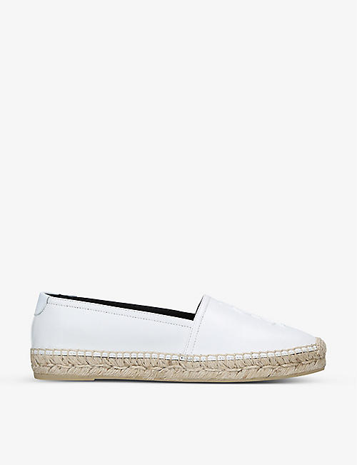 SAINT LAURENT YSL leather espadrilles