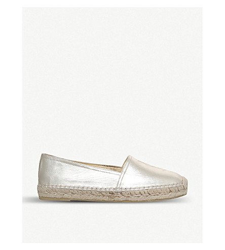 SAINT LAURENT Metallic leather espadrilles (Gold