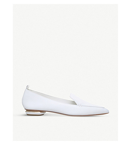 NICHOLAS KIRKWOOD Beya grained-leather loafers (White