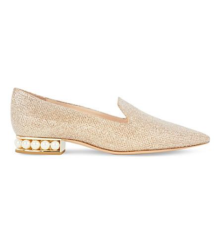 NICHOLAS KIRKWOOD Casati metallic loafers (Gold comb