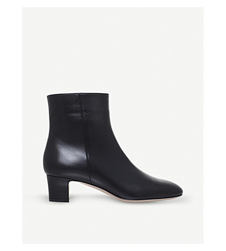 GIANVITO ROSSI Leynes 45 leather boots (Black