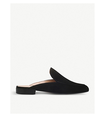 GIANVITO ROSSI Palau suede slippers (Black