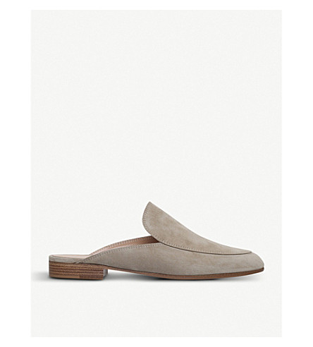GIANVITO ROSSI Palau suede slippers (Taupe