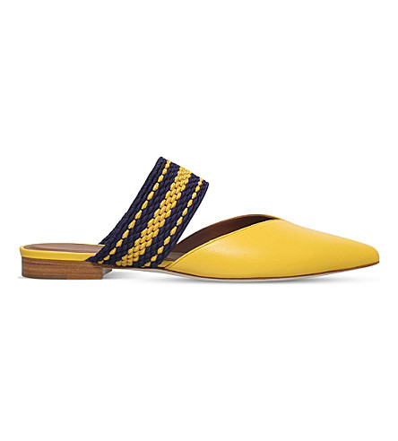 MALONE SOULIERS Hannah leather flats (Yellow