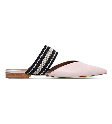 MALONE SOULIERS Hannah leather flats (Pink
