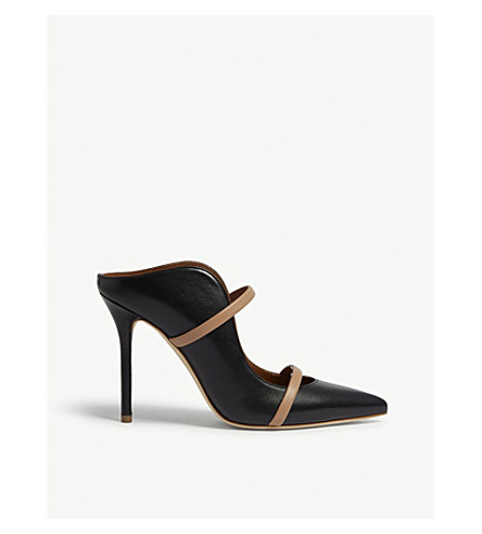 MALONE SOULIERS Maureen leather mules (Black