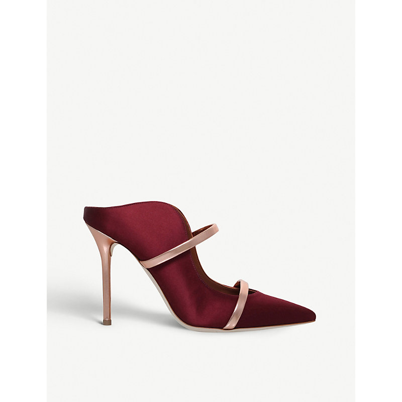 Maureen buckled satin mules